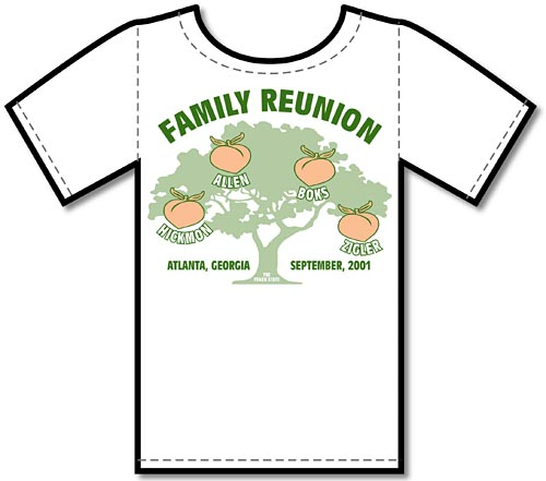 artworks graphics tee shirt art production family reunion designs